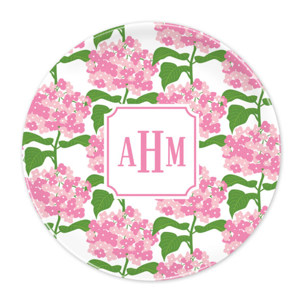 Monogram Plate - Sconset Pink by Boatman Geller