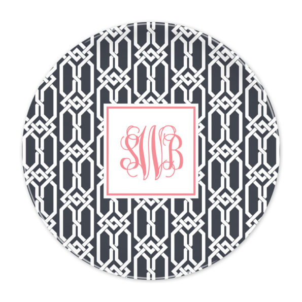 Monogram Plate - Arden Charcoal by Boatman Geller