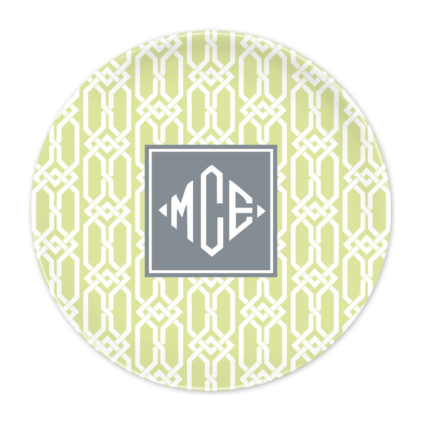 Monogram Plate - Arden Spring Green by Boatman Geller