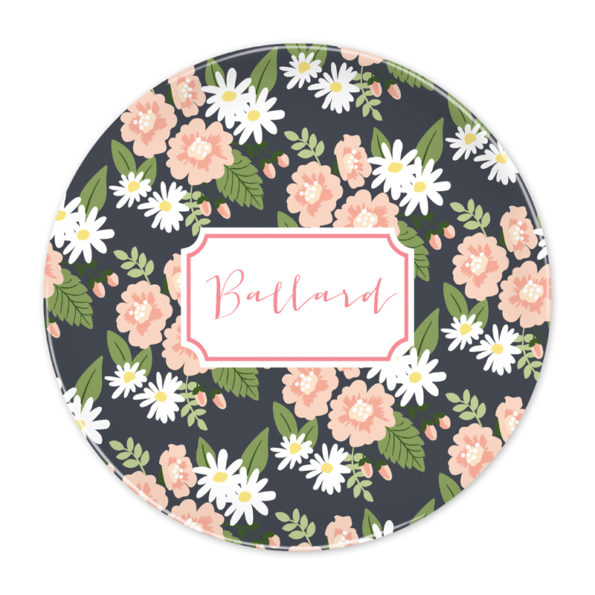 Monogram Plate - Lillian Floral by Boatman Geller