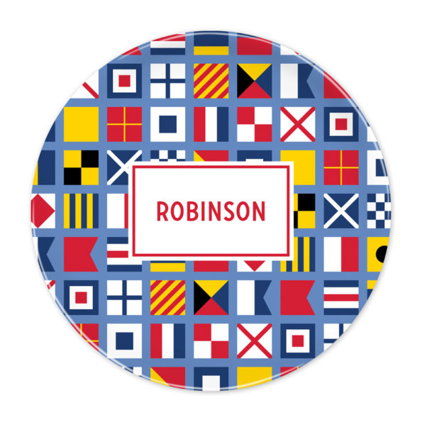 Monogram Plate - Nautical Flags by Boatman Geller