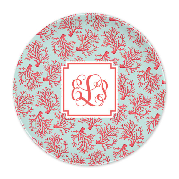 Monogram Plate - Reef by Boatman Geller