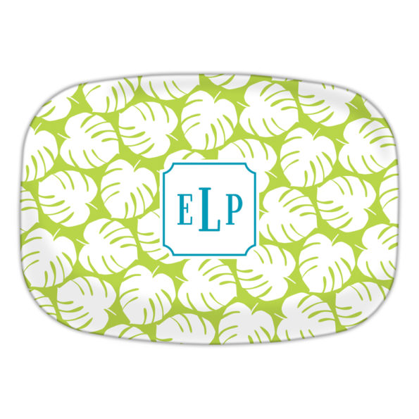 Monogram Platter - Palm Lime