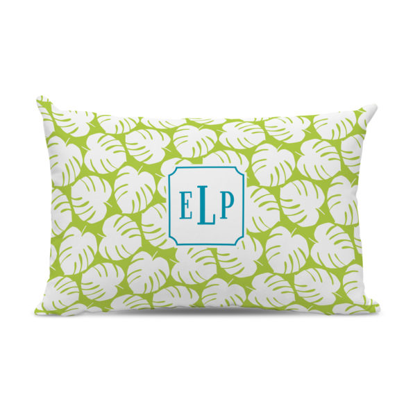 Monogram Pillow Palm Lime - Lumbar