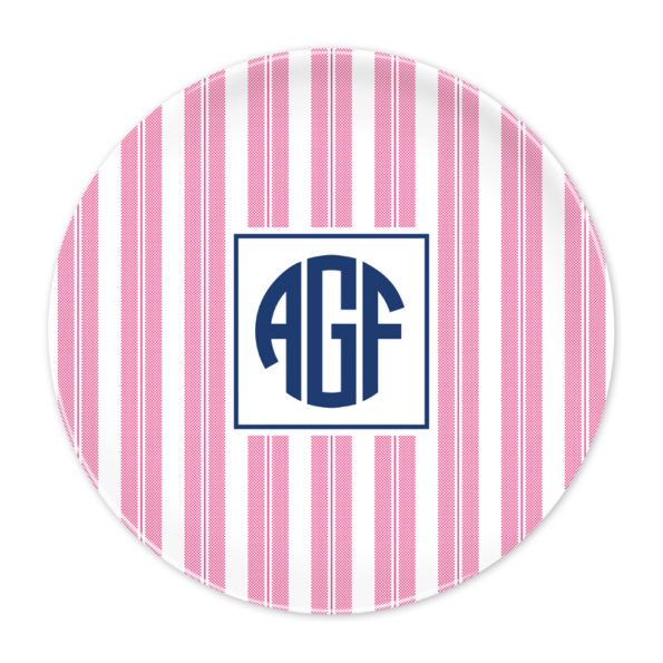 Monogram Plate - Banana Leaf by Boatman Geller