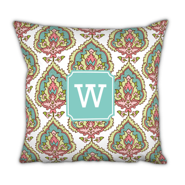 Monogram Pillow Cora Spring - Square