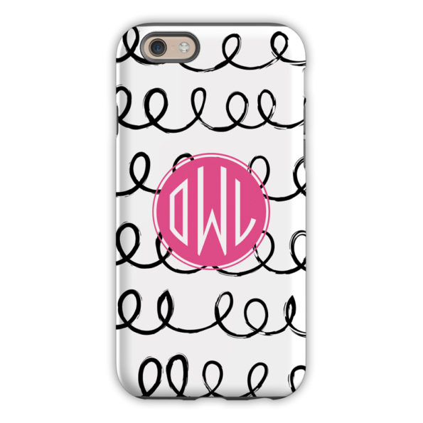 Monogram iPhone 6 / 6S / 6 Plus Case Weeeee Circle