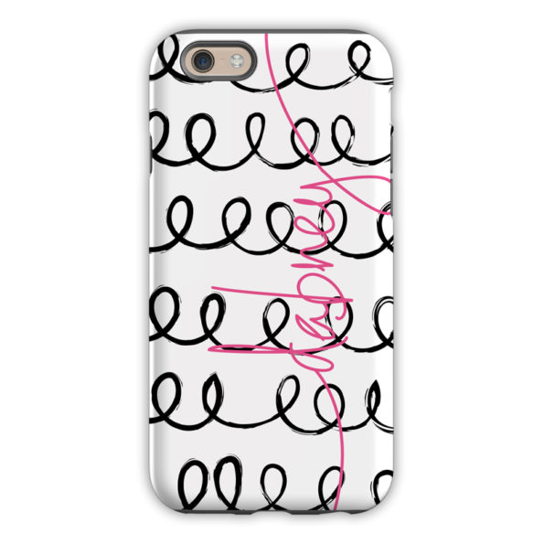 Monogram iPhone 6 / 6S / 6 Plus Case Weeeee Script