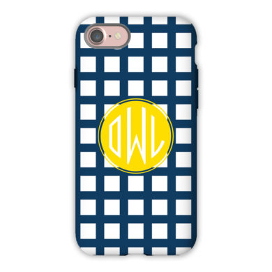 Monogram iPhone 7 / 7 Plus Case - Checks & Balances by Dabney Lee - Circle