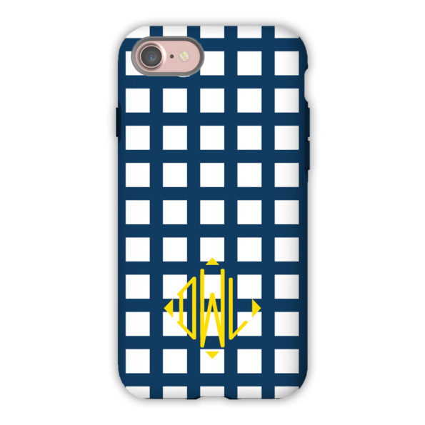 Monogram iPhone Case - Checks & Balances - Dabney Lee