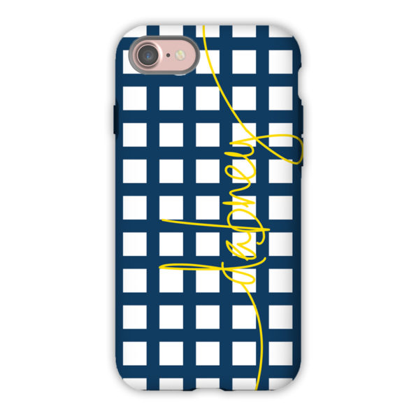 Monogram iPhone 7 / 7 Plus Case - Checks & Balances by Dabney Lee - Script