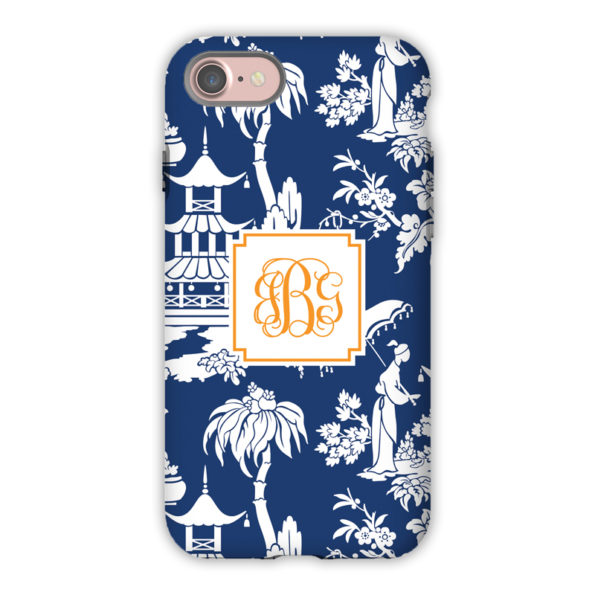 Monogram iPhone 7 / 7 Plus Case Pagoda Garden Navy - Boatman Geller