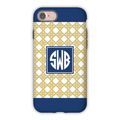 Monogram iPhone 7 / 7 Plus Case - Parker Border Navy by Boatman Geller