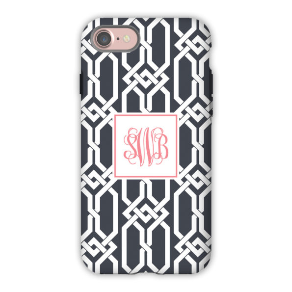 Monogram iPhone Case - Arden Charcoal - Boatman Geller