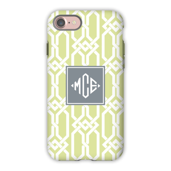 Monogram iPhone 7 / 7 Plus Case - Arden Spring Green by Boatman Geller