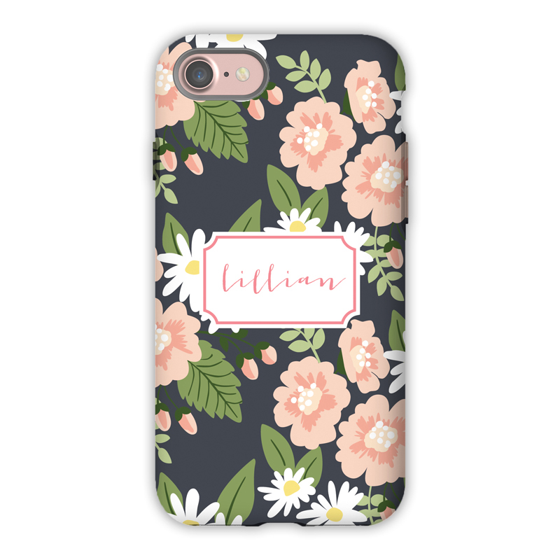 sale retailer 7a265 86349 Monogram iPhone 8 / 8 Plus Case - Lillian Floral - Boatman Geller