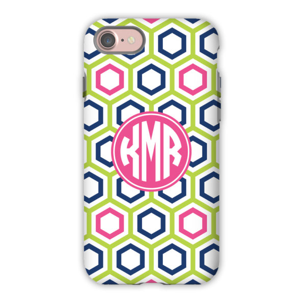 Monogram iPhone 7 / 7 Plus Case - Maggie Lime & Navy by Boatman Geller