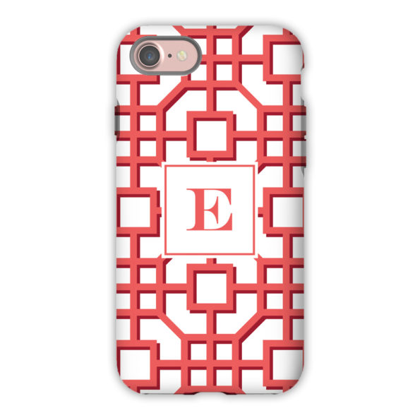 Monogram iPhone 7 / 7 Plus Case Fret Coral