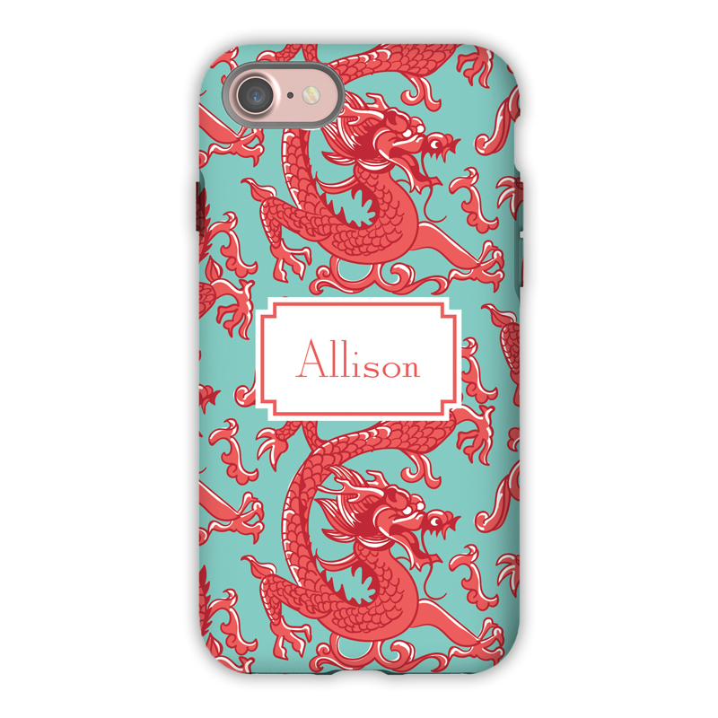 Monogram Iphone 7 7 Plus Case Imperial Coral By