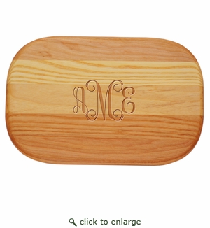 Small Everyday Monogrammed Wood Cutting Board