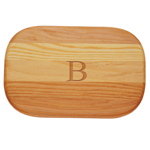 Small Everyday Wood Cutting Board - Single Initial