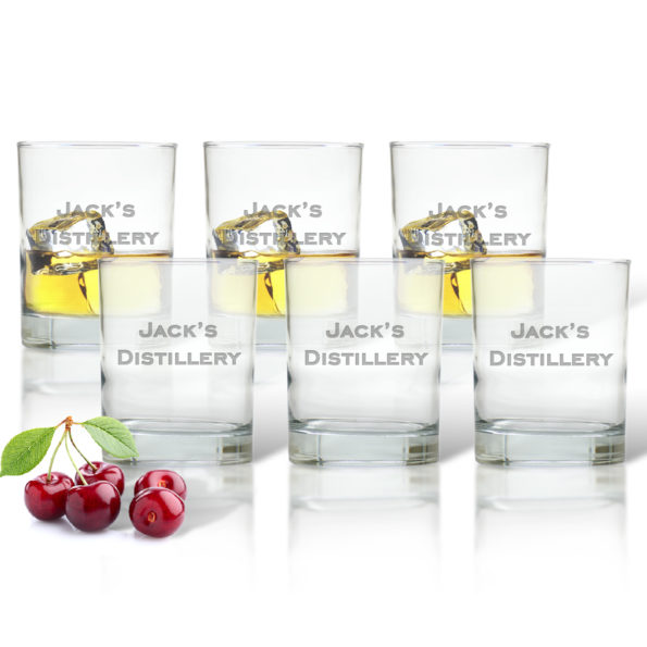 Monogram Old Fashioned Glasses - Set of 6