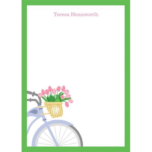 Monogram Notepads Bicycle - WH Hostess