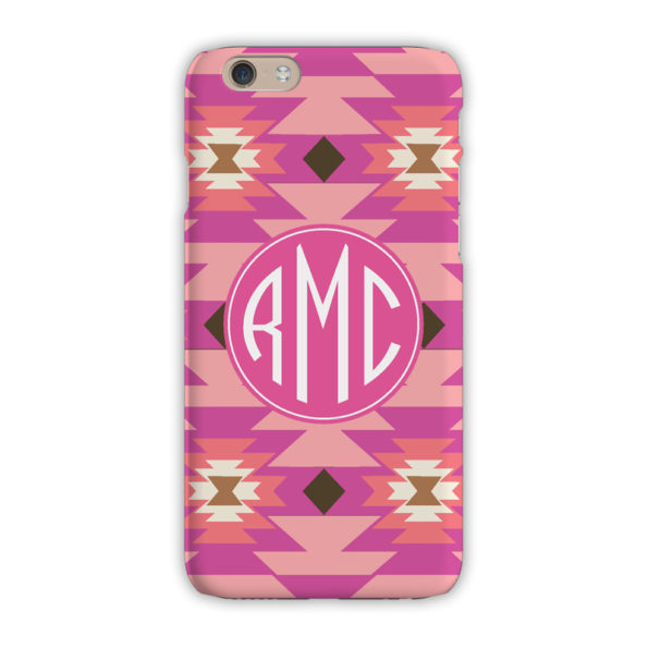 Monogram iPhone 7 / 7 Plus Case - Arizona Pink - Clairebella