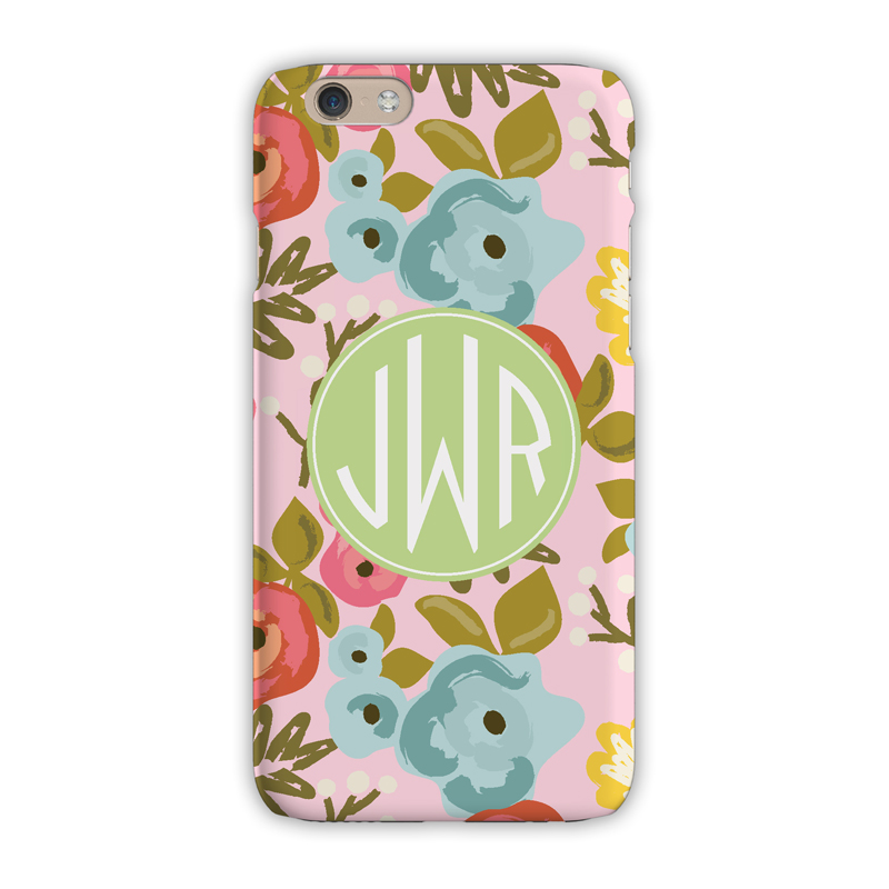 Monogram iphone 7 7 plus case bloom blush clairebella for Clairebella
