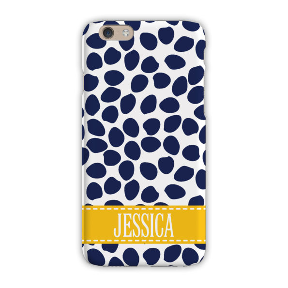 Monogram iPhone 7 / 7 Plus Case - Organic Dots Navy - Clairebella