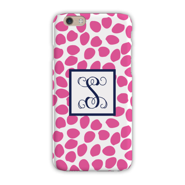 Monogram iPhone 7 / 7 Plus Case - Organic Dots Hot Pink - Clairebella