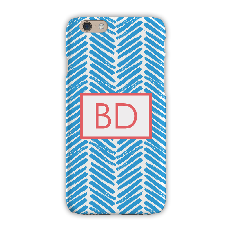 d79cefca1866d Monogram iPhone X Case - Herringbone Carolina - Clairebella
