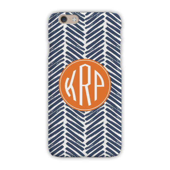 Monogram iPhone 7 / 7 Plus Case - Herringbone Denim - Clairebella