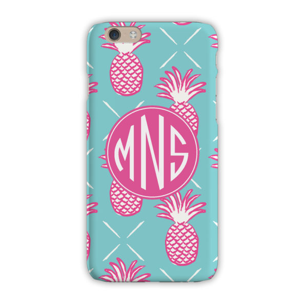 Monogram iPhone 7 / 7 Plus Case - Pineapples Blue - Clairebella