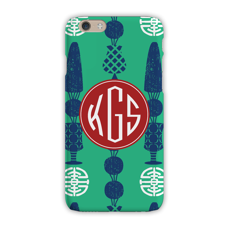 Monogram iphone 8 8 plus case topiary green clairebella for Clairebella