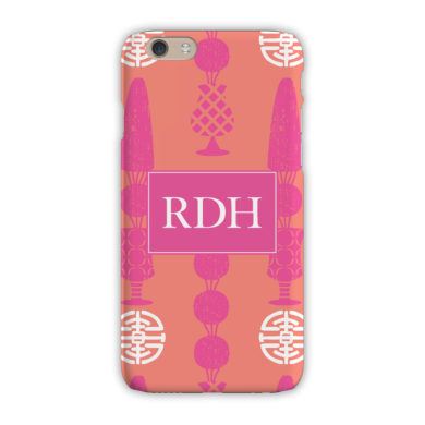 Monogram iPhone 7 / 7 Plus Case - Topiary Pink - Clairebella