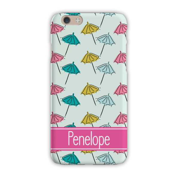 Monogram iPhone 7 / 7 Plus Case - Beach Umbrella Mint - Clairebella