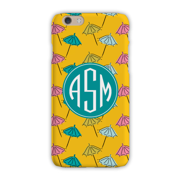 Monogram iPhone 7 / 7 Plus Case - Beach Umbrella Canary - Clairebella