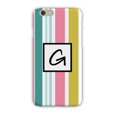 Monogram iPhone 7 / 7 Plus Case - Cabana Stripe - Clairebella