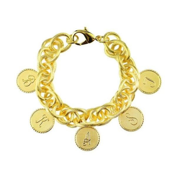 Five Charm Bracelet with Small Gold Charms