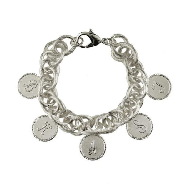 Five Charm Bracelet with Small Silver Charms