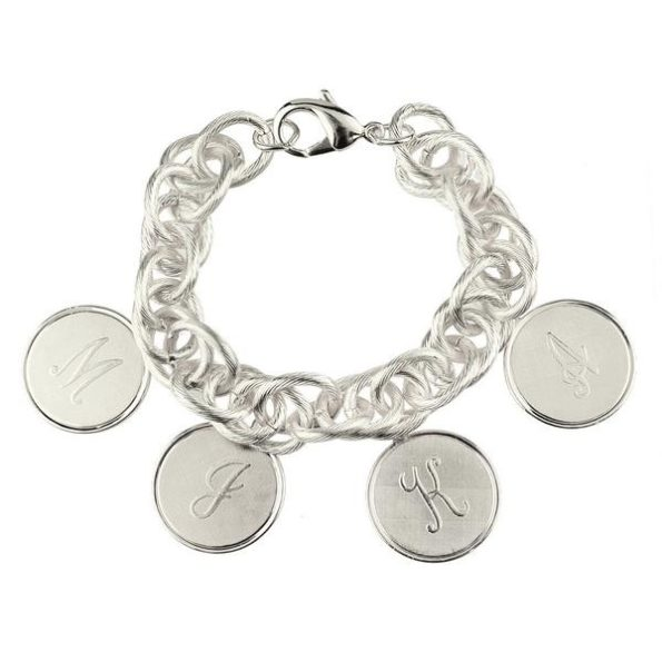 Silver Charm Bracelet with Four Medium Charms