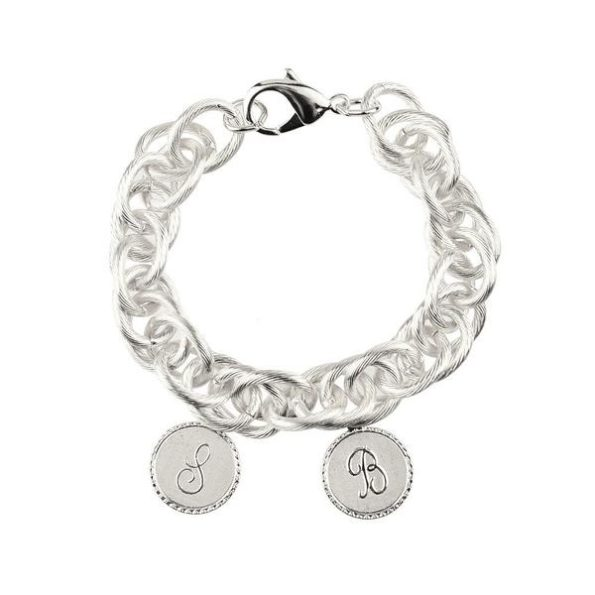 Silver Bracelet with Two Small Charms