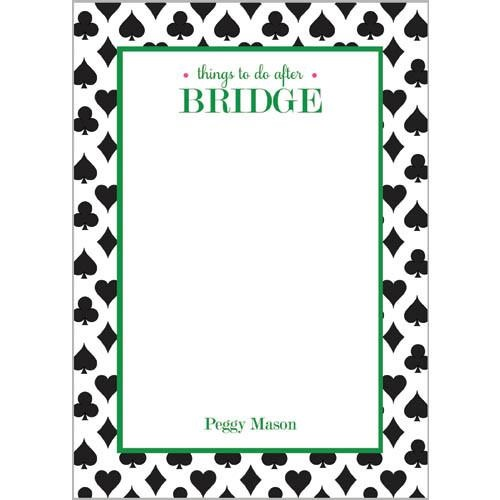 Monogram Notepads Things To Do After Bridge - WH Hostess