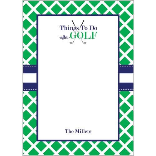 Monogram Notepads Things To Do After Golf - WH Hostess