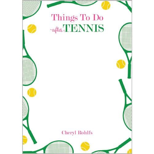 Monogram Notepads Things To Do After Tennis - WH Hostess