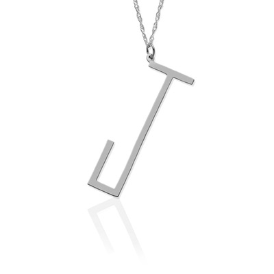 "Angled Initial on 30"" Chain - Jane Basch"