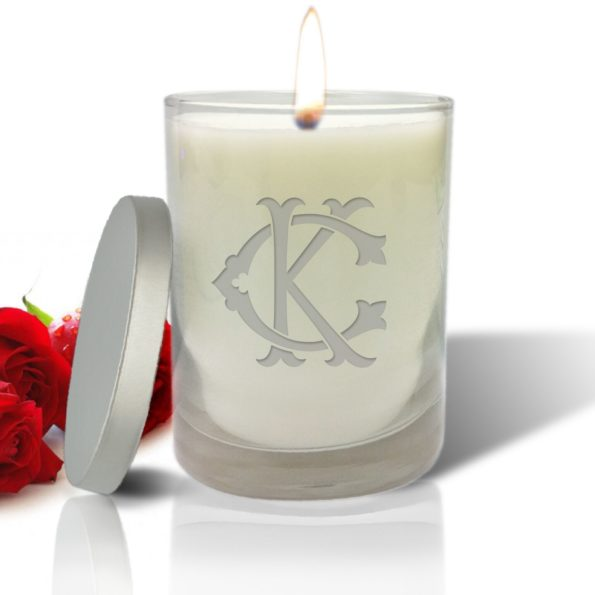 Monogram Chic Candle in Glass Jar