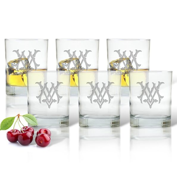 Monogram Chic Old Fashioned Glasses - Set of 6