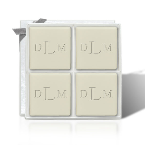 Monogrammed Square Guest Bars - Set of 4